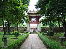 The Temple of Literature in Hanoi. The city is the capital of Vietnam.