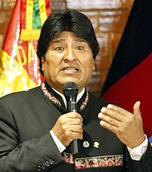 Current President, Evo Morales