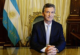 Macri in his inauguration as President of Argentina, on 10 December 2015.