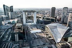 La Défense is the largest business district in Europe