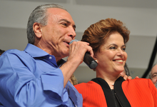 Temer with Dilma Rousseff in 2010.