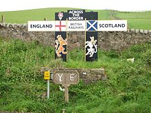 The Scottish government proposed that there would be no border controls on the Anglo–Scottish border.