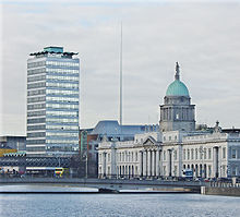 Dublin City Center, capital of Ireland.