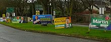 Election posters in Cork South-Central Ireland.