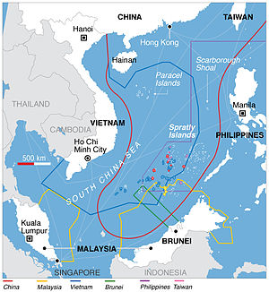 Territorial claims in the South China Sea.