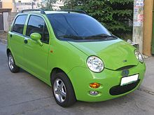 Chinese-made car, the Chery QQ a Chinese export.
