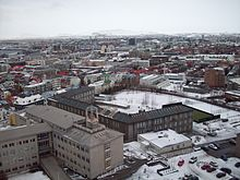 Reykjavík, Iceland's largest metropolitan area and the centre of the Capital Region which, with a population of 200,000, makes for 64% of Iceland's population