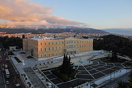 The Hellenic Parliament in central Athens.