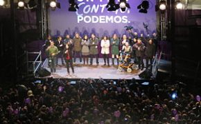 Podemos celebrating its election result on last December.