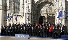 Germany became a co-founder of the European Union (1993), introduced the Euro currency (2002), and signed the Lisbon Treaty in 2007 (pictured).