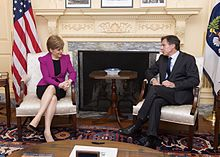 Nicola Sturgeon, current First Minister of Scotland meets with Deputy United States Secretary of State Tony Blinken