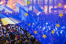 Pro-EU demonstration in Kiev, November 27, 2013, during Euromaidan