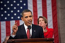President Obama addressing Congress regarding healthcare reform, September 9, 2009