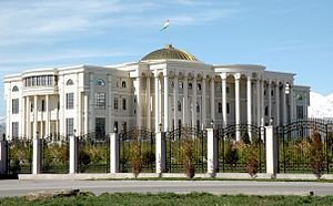 View of the Palace of the Nation (Presidential Palace) in Dushanbe.