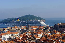 Cruise ship in Dubrovnik.