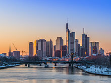 Frankfurt Germany, is a leading financial center in Europe and seat of the European Central Bank.