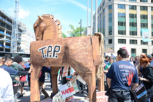 """Stop Fast Track"" rally in Washington D.C., April 2015 in protest against the Trans-Pacific Partnership"