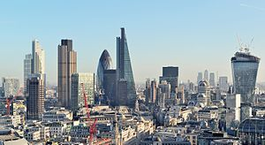 The city of London, capital of the United Kingdom, is one of the world's largest financial centers