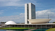 National Congress of Brazil, seat of the legislative branch.