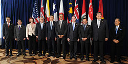 Leaders of prospective member states at a TPP summit in 2010