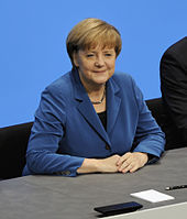 Angela Merkel at the signing of the coalition agreement for the 18th election period of the Bundestag, December 2013