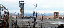 Ruins of Donetsk International Airport, December 2014. The control tower has since been completely destroyed.