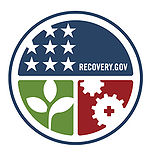 Official seal of Recovery.gov, the official site of the American Recovery and Reinvestment Act of 2009.