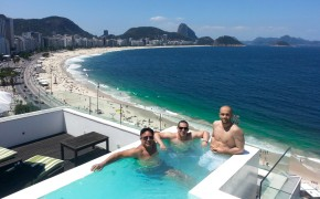 View from the penthouse that we rented in Brazil