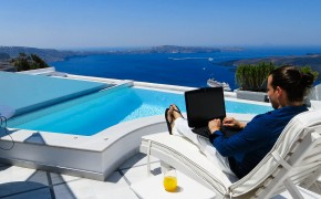 Day Trading and Traveling in Santorini Greece