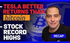 Recap January 17: Tesla better returns than Bitcoin, Stock Record Highs (Recap Ep106)